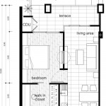 The Lai Thai Floor Plans: One Bedroom Unit Type A